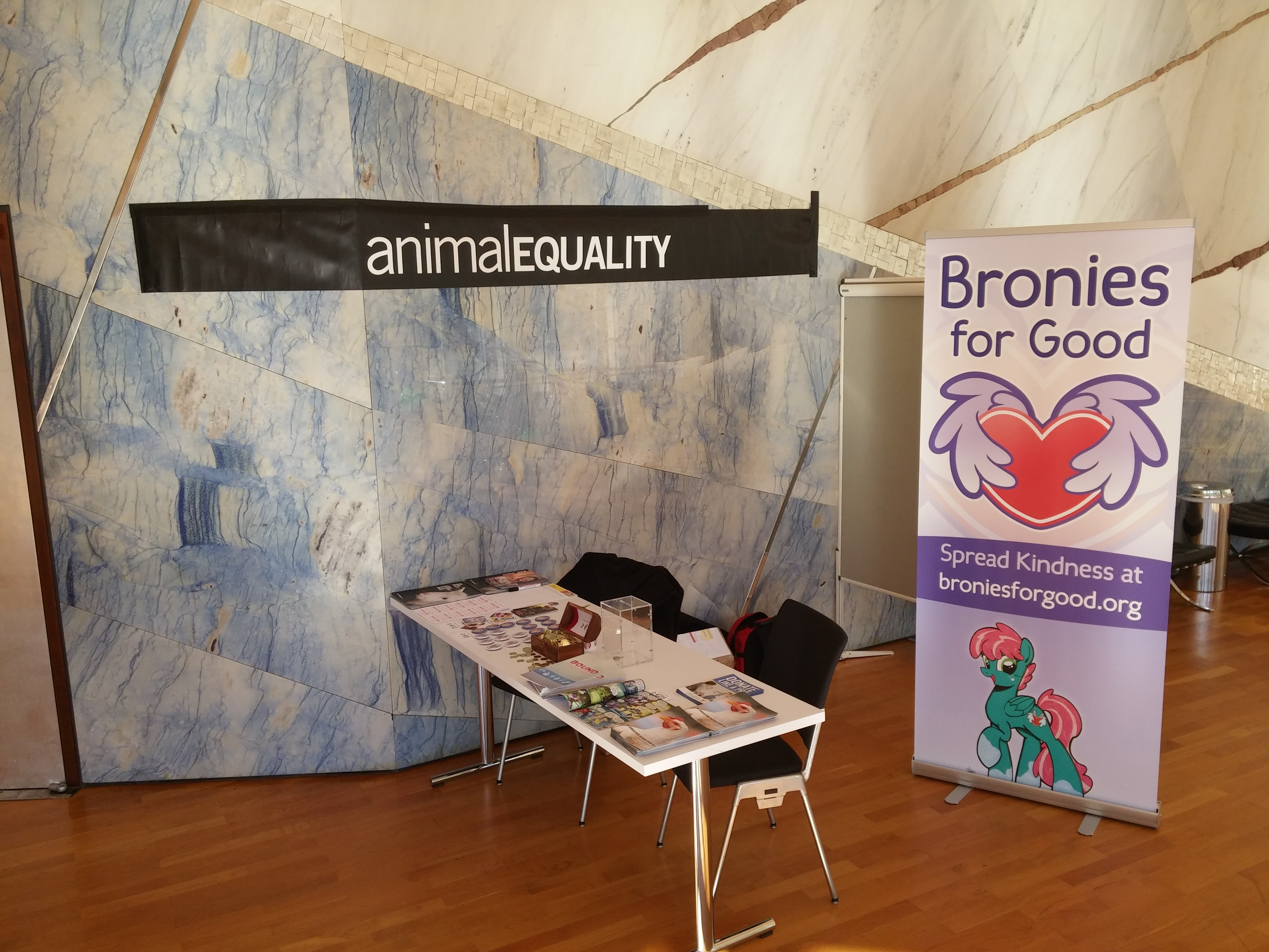 Bronies for Good booth at GalaCon 2016